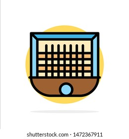 Ball, Gate, Goalpost, Net, Soccer Abstract Circle Background Flat color Icon