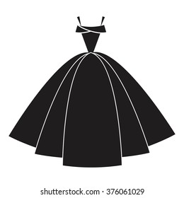 Ball gown female black long