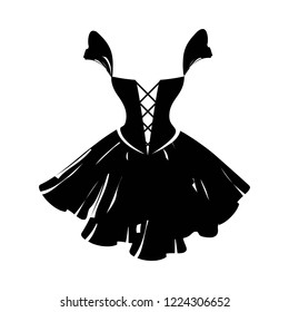 ball gown little black on a white background