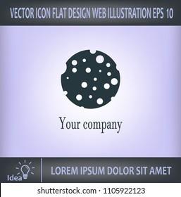 Ball with holes logo vector icon.