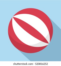 Ball icon. Flat illustration of ball vector icon for web