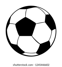 Ball icon isolated black and white. Sport object. Vector illustration.
