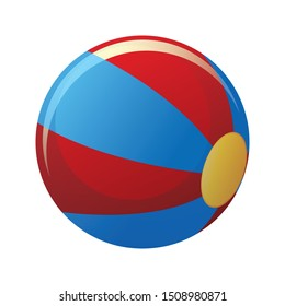 ball icon on white background, vector symbol