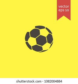 ball. ball icon. sign design. yellow background.