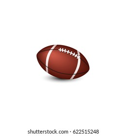 Ball for playing American football on a white background - isolate.