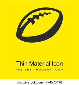 Ball of rugby bright yellow material minimal icon or logo design