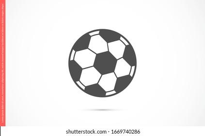 Ball vector icon. Ball games icon. Ball for football games icon. Ball for fun icon.