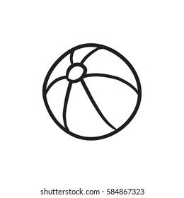 Ball vector sketch icon isolated on background. Hand drawn Ball icon. Ball sketch icon for infographic, website or app.