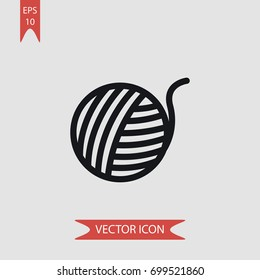 Ball of wool vector icon illustration symbol