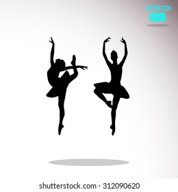 Ballerina in ballet pose.