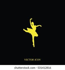 Ballerina in ballet pose icon.