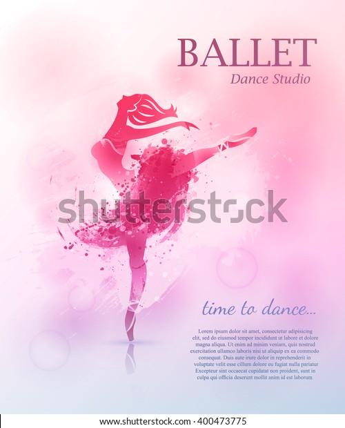 Vector De Stock Libre De Regalías Sobre Ballerina Bailando