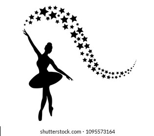 Ballerina Dancer Black and White Design