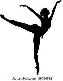 ballerina isolated