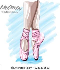 ballerina legs vector