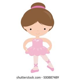 Ballerina vector cartoon illustration