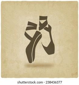 ballet dance studio symbol old background - vector illustration. eps 10