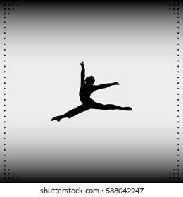Ballet dancer icon.