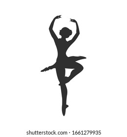 Ballet dancer silhouette vector graphics