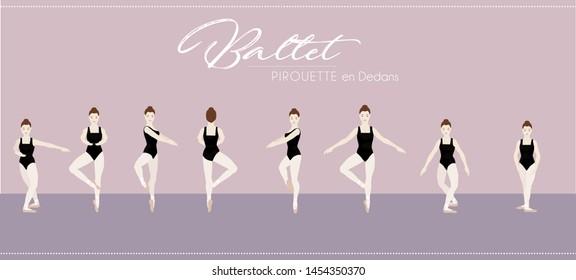 Ballet Pirouette en dedans step by step