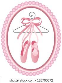 Ballet shoes label