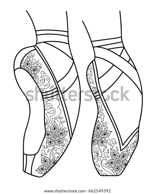 Free Pointe Shoes Coloring Pages to Print for Kids Pictures ... | 620x496