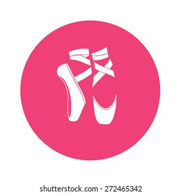 Ballet shoes. Vector illustration.