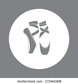Ballet shoes. Vector illustration.