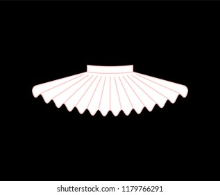 Ballet tutu isolated. Skirt of ballerina. vector illustration