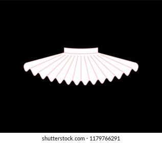 Ballet tutu isolated. Skirt of ballerina. vector illustration
