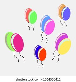 ballon icon for party our other.vector design