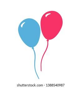 Ballon Icon vector, ballon air icon modern concept in colorfull design