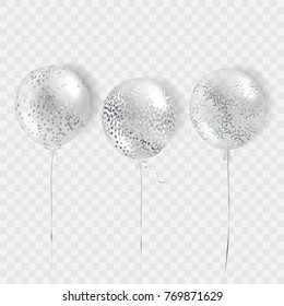 Ballons vector isolated foe poster, cover, frame.