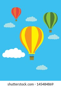balloon blackground vector