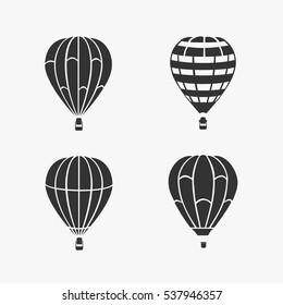 Balloon Flying Vector Set