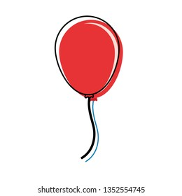 balloon icon over white background colorful design  vector illustration
