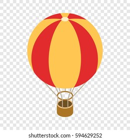 Balloon isometric icon 3d on a transparent background vector illustration