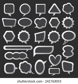 Balloon message collection set vector for anything design