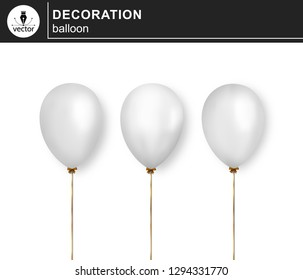 Balloon. Set of decorative, festive balloons isolated on white background. - Vector