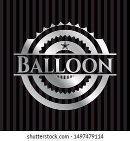 Balloon silvery badge. Vector Illustration. Mosaic.
