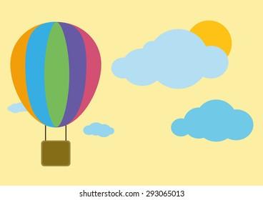 Balloon Sky Landscape Vector