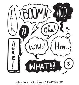 Balloon Speak Doodle for Cartoon Decoration