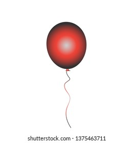 Balloon vector icon isolated on white background. Red gradient balloon icon. Useful for party poster, greeting and wedding card. Vector illustration