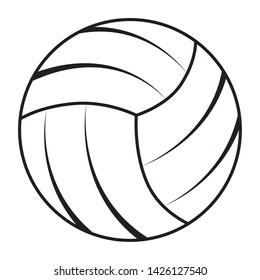 balloon volleyball sport isolated icon