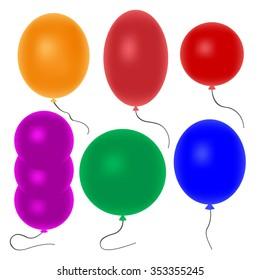 Balloons Collection Set. Balloons ai. Balloons logo. Vector illustration
