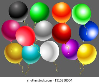 Balloons of different color decor