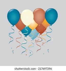 balloons graphic design , vector illustration