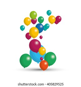 balloons graphic design , vector illustration