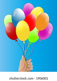 balloons held by hand