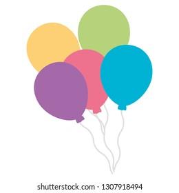 balloons helium floating icon